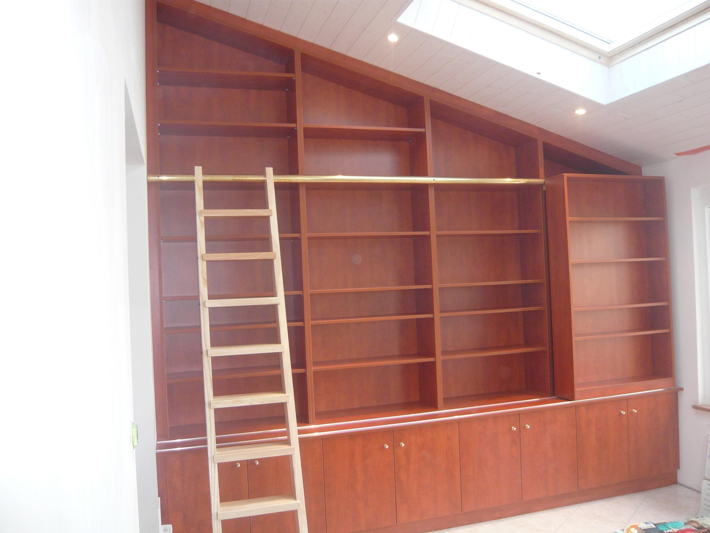 Menuiserie bourcy biblioth que sous combles Bibliotheque sous comble