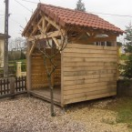 Charpente de cabane de jardin