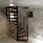 Escalier colimaçon de cave