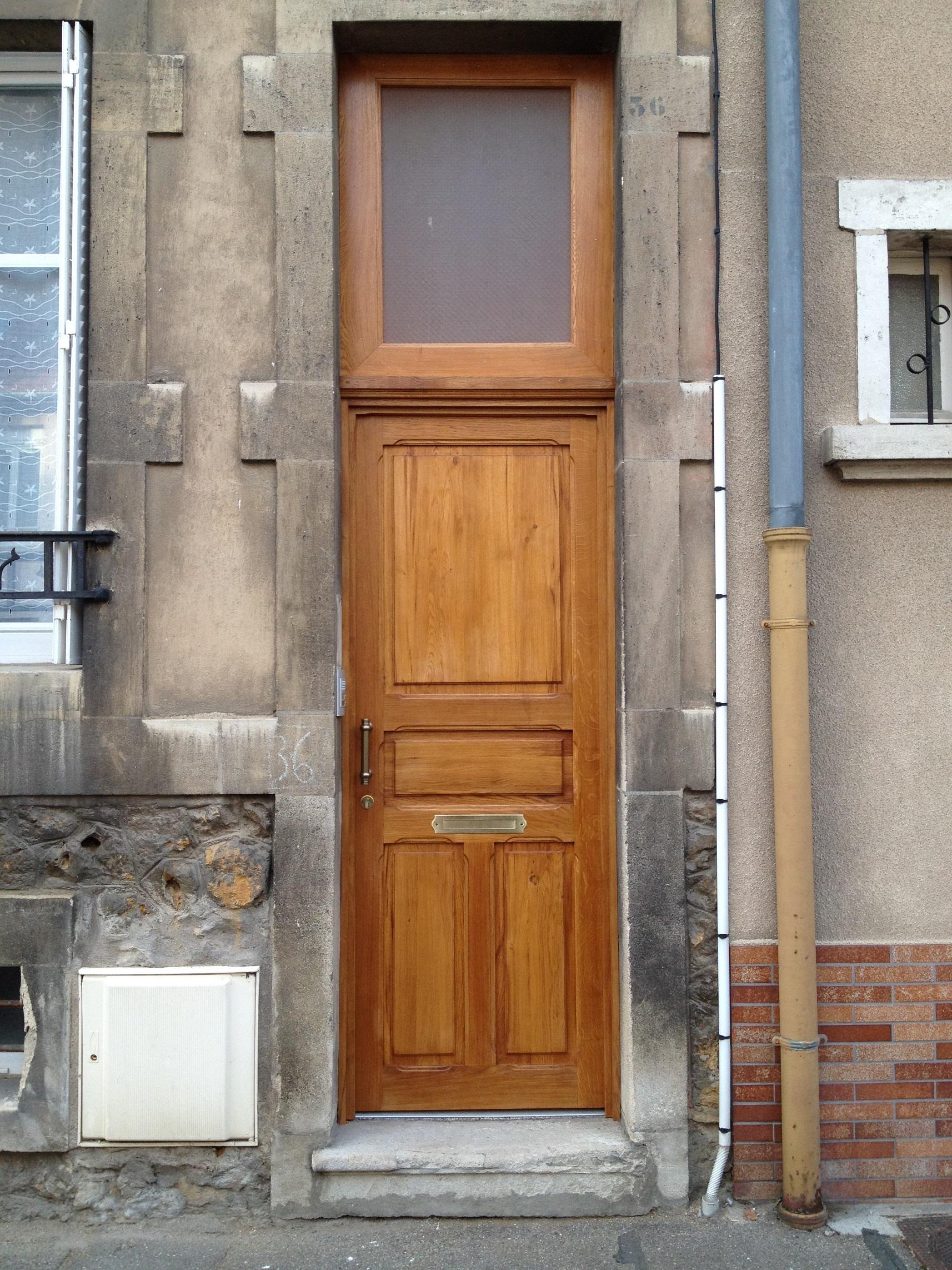 Porte d'entrée maison de ville