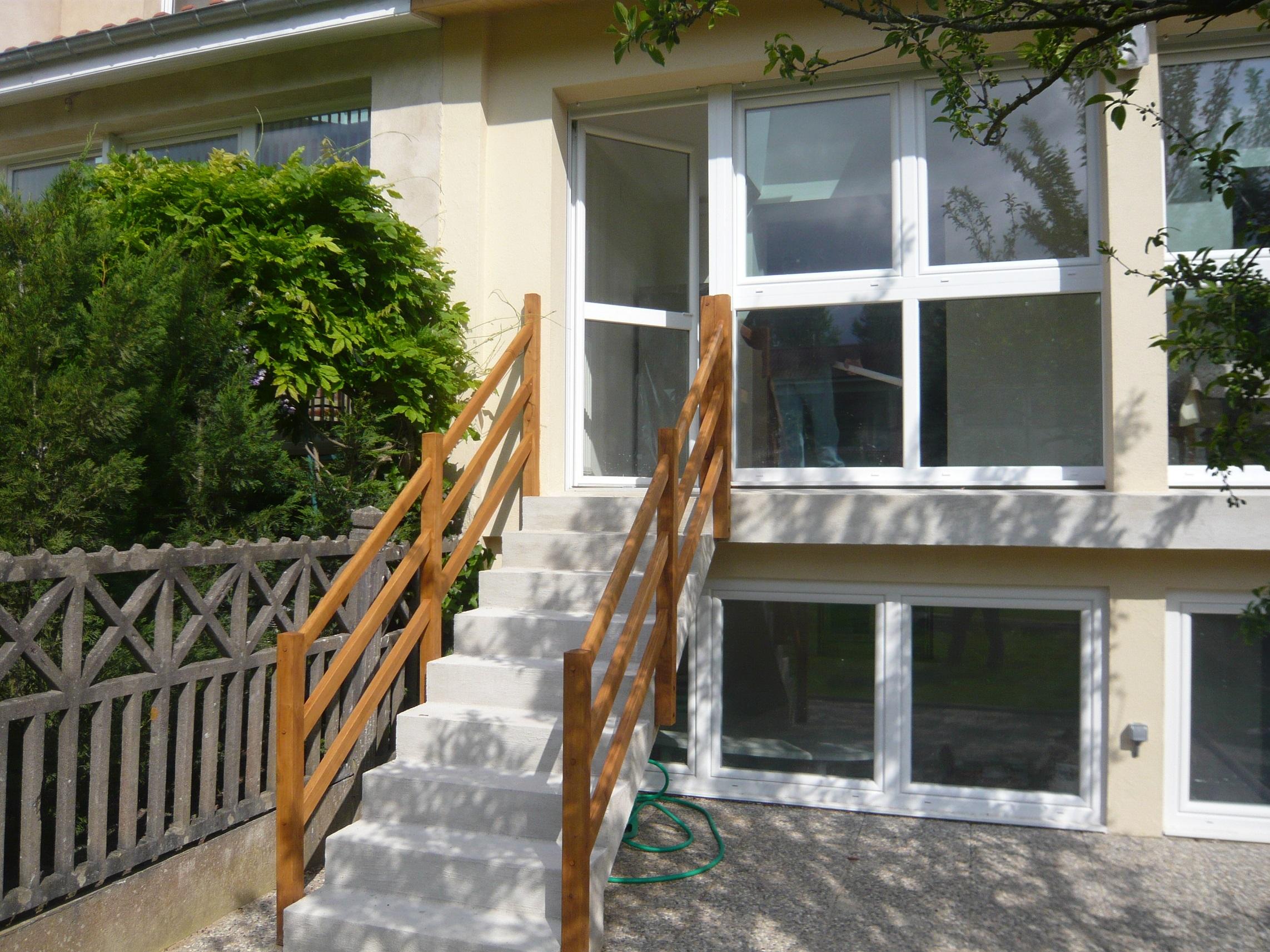 Rampes d'escalier droit d'extérieur
