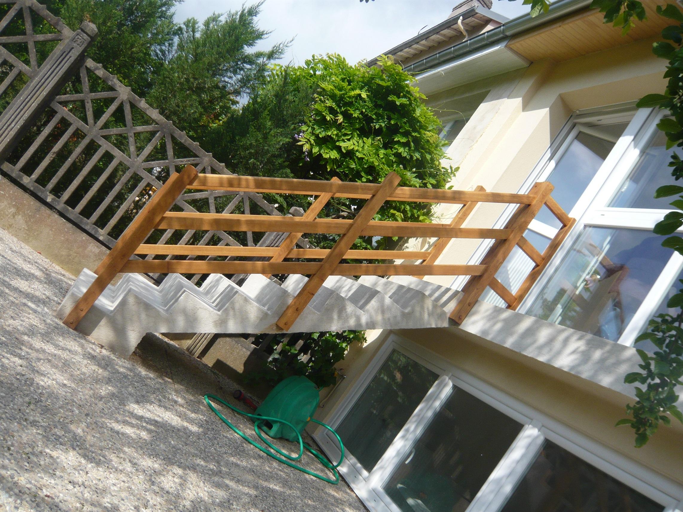 Rampe d'escalier droit